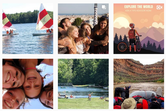 Sample of 6 posts from @tipsontripsandcamps on Instagram