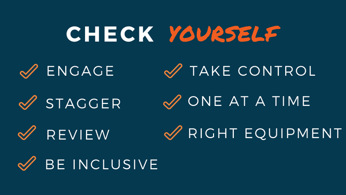 Check Yourself: Engage, Stagger, Review, Be Inclusive, Take Control, One at a Time, Right Equipment