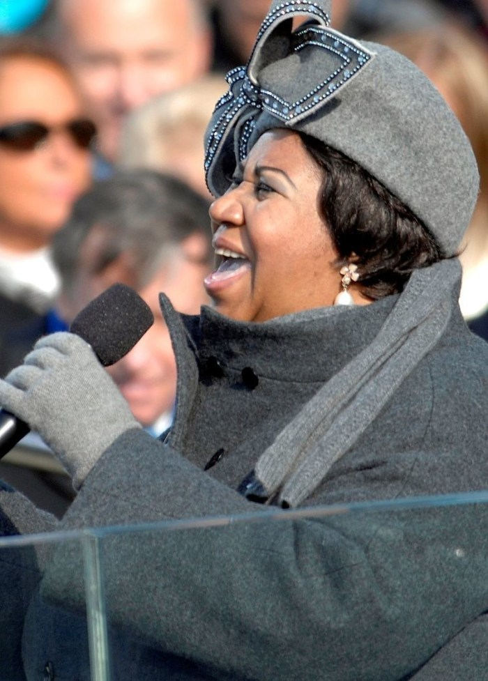 Aretha Franklin singing at Barack Obama's 2009 Presidential Inauguration.