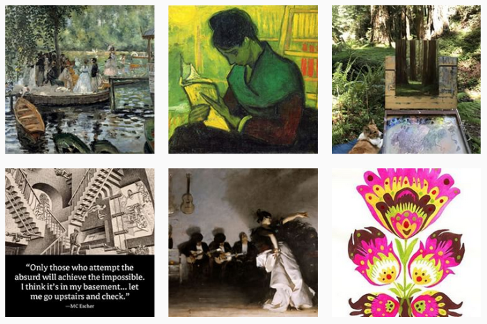 Six recent posts from @artistsnetwork on Instagram