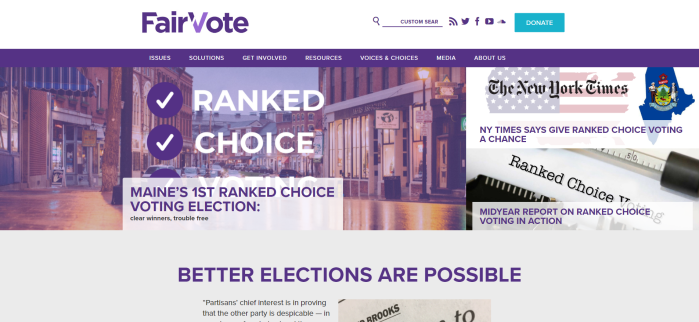 FairVote Homepage