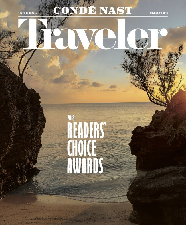 Conde Nast Traveler cover: 2018 Readers' Choice Awards