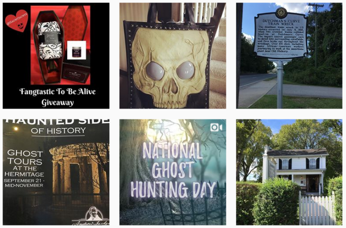Six recent posts from @hauntjaunts on Instagram