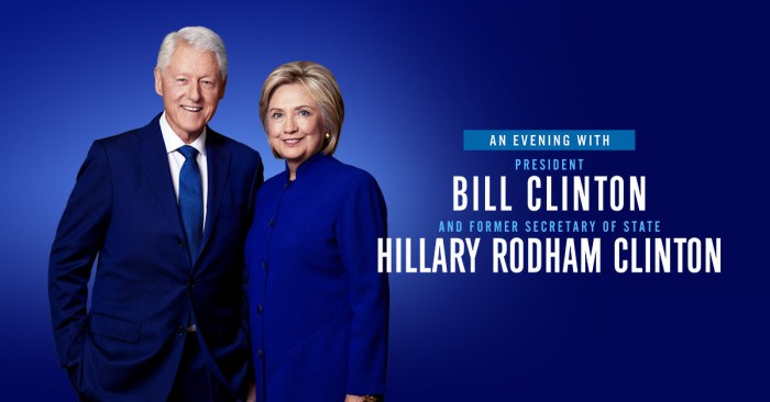 Live Nation: An Evening with President Bill Clinton and former Secretary of State Hillary Rodham Clinton