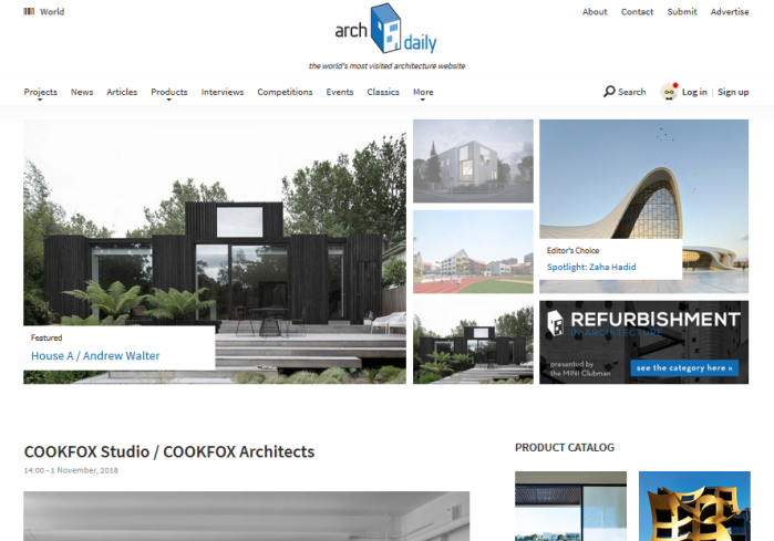 ArchDaily homepage
