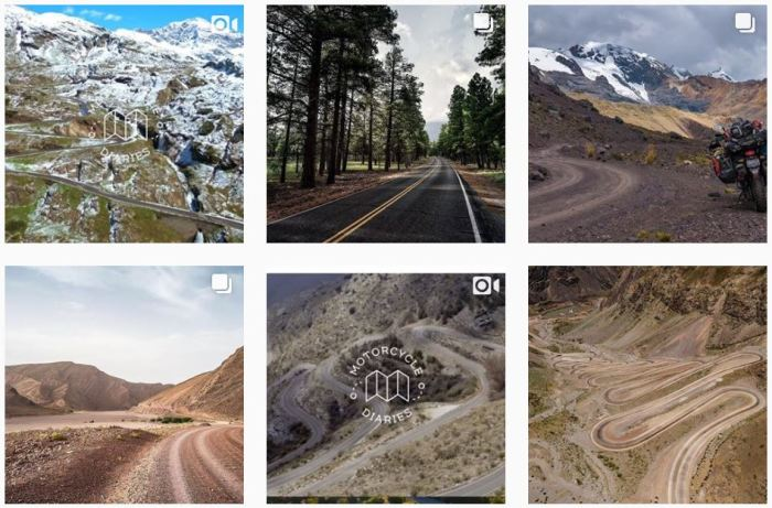 Six recent posts from @motorcyclediaries on Instagram