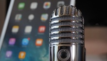 Microphone and cell phone with apps