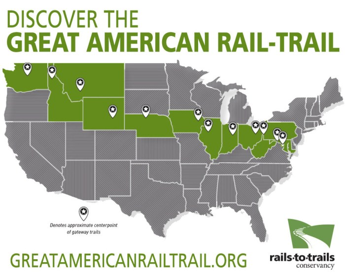 Great American Rail-Trail Green Map