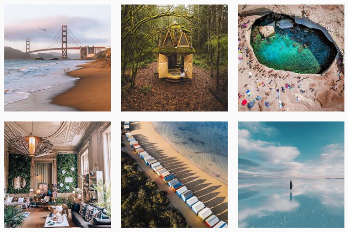 Travel News Sites: @travelzoo on Instagram