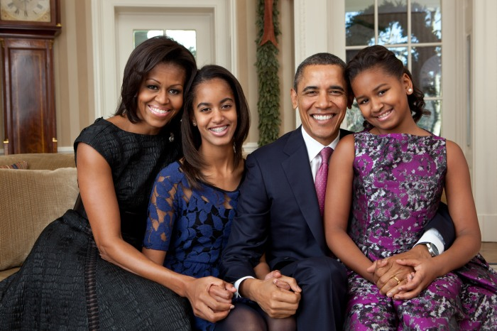 Barack Obama family portrait 2011