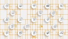 Web of Social Media Icons