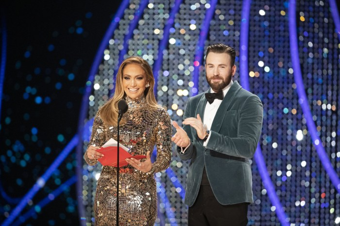Swarovski - Jennifer Lopez, Chris Evans at 91st Academy Awards