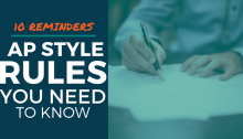 10 Reminders: AP Style Rules You Need to Know