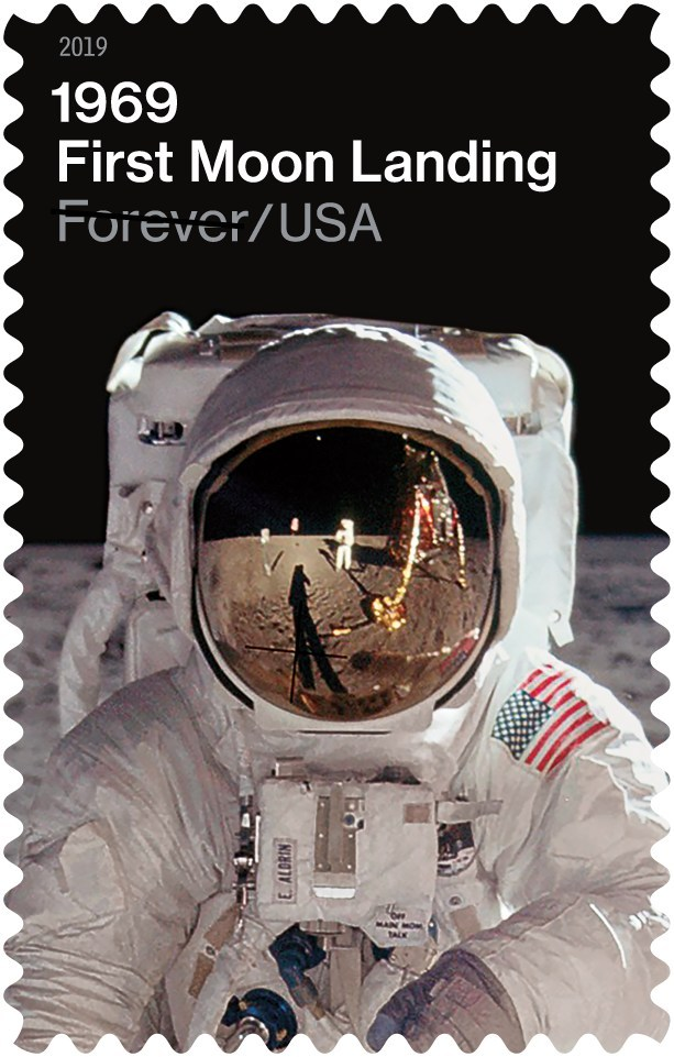 U S Postal Service 1969 First Moon Landing Stamp 2019