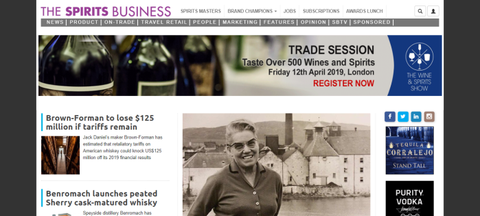 The Spirits Business homepage