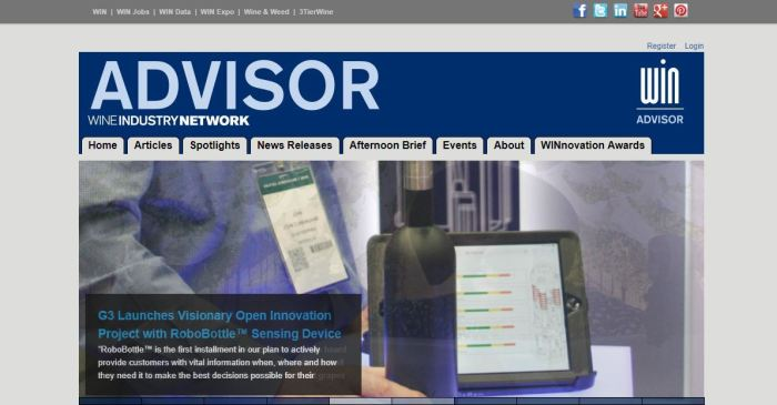 Wine Industry Advisor homepage