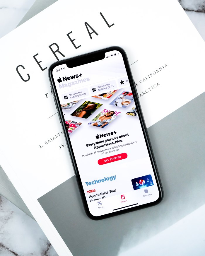 Apple News Plus app open on a smartphone
