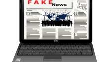 Fake News Article on Laptop