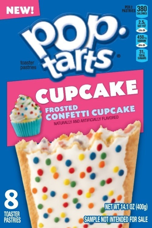 Pop-Tarts Frosted Confetti Cupcake