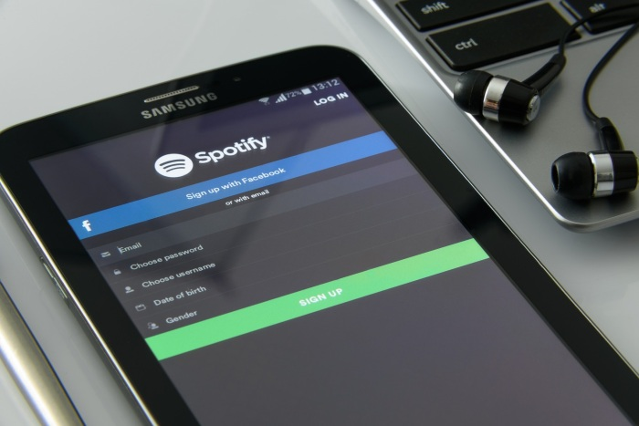 Spotify on a smart phone