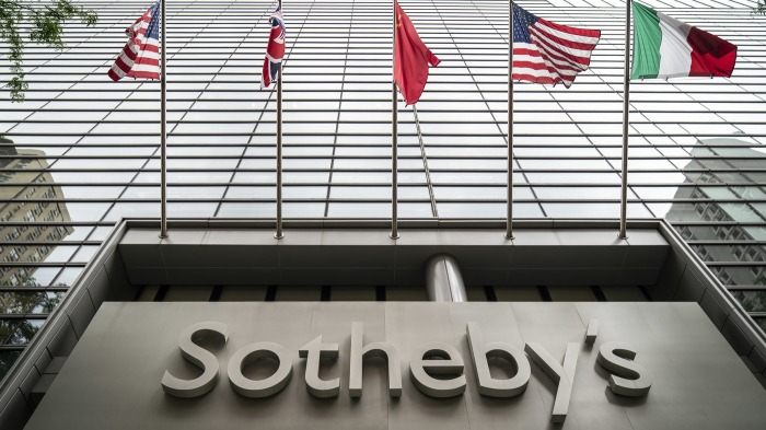 Sotheby's logo on a building exterior