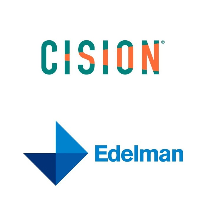 Cision and Edelman Logos