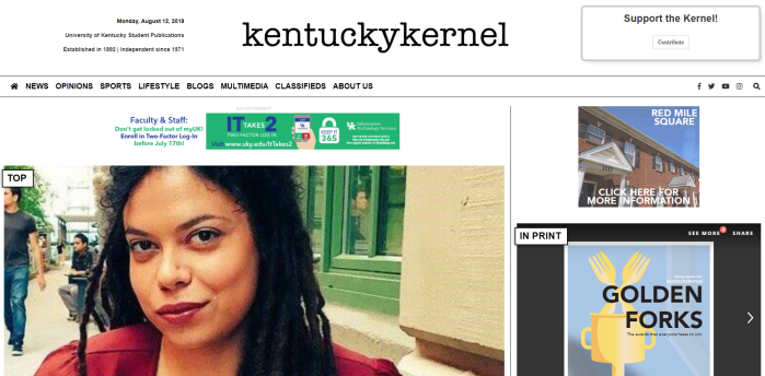 Kentucky Kernel homepage
