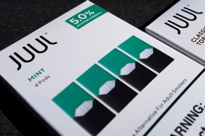 JUUL mint pod packaging
