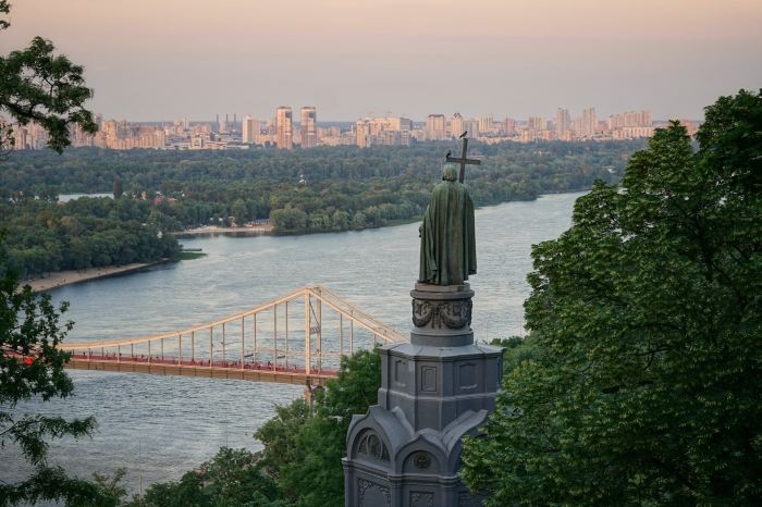 Cityscape view of Kyiv, Ukraine