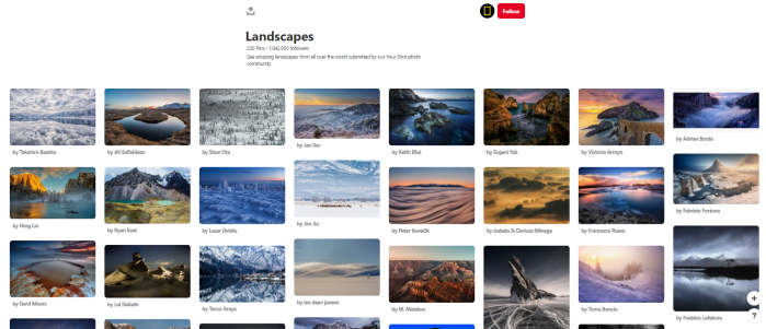News Orgs to Follow on Pinterest - natgeo - Landscapes board