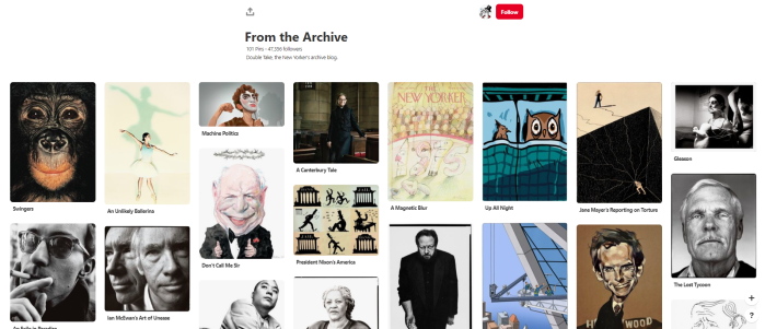 News Orgs to Follow on Pinterest - thenewyorker - From the Archive board
