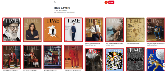 News Orgs to Follow on Pinterest - timemagazine - TIME Covers board