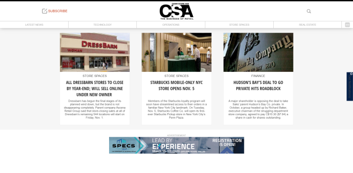 Top Retail News Sites - Chain Store Age