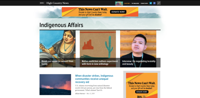 Top Native American News Sites - High Country News | Indigenous Affairs