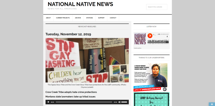 Top Native American News Sites - National Native News