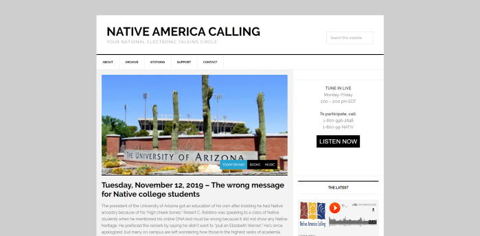 Top Native American News Sites - Native America Calling