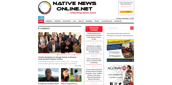 Top Native American News Sites - Native News Online