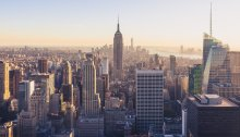 A view of New York City architecture from above