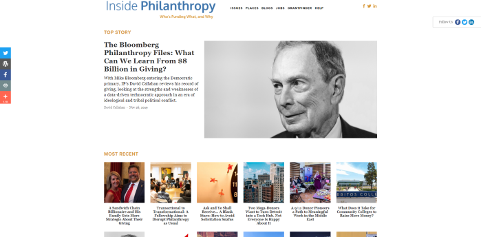 Top Philanthropy News Sites - Inside Philanthropy