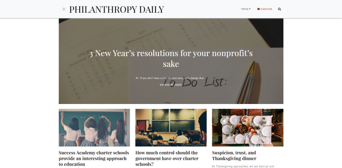 Top Philanthropy News Sites - Philanthropy Daily