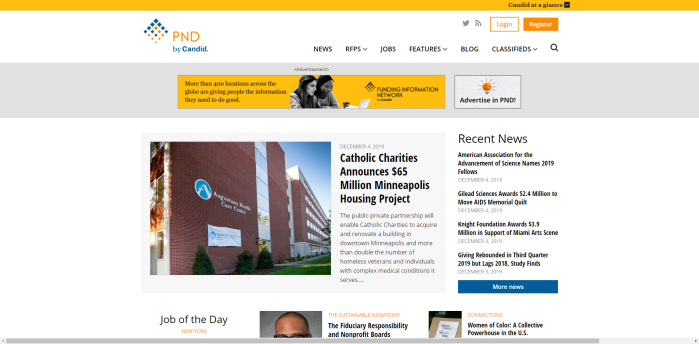Top Philanthropy News Sites - Philanthropy News Digest (PND)