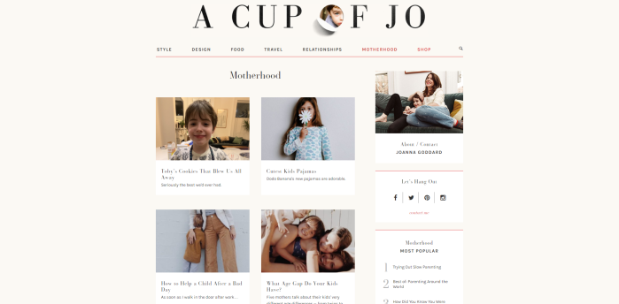 Parenting News Sites - A Cup of Jo