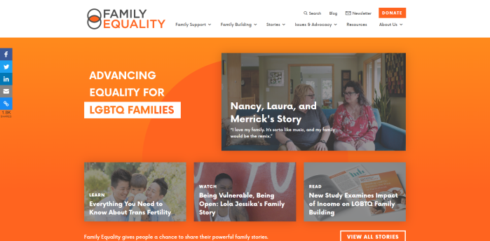 Parenting News Sites - Family Equality