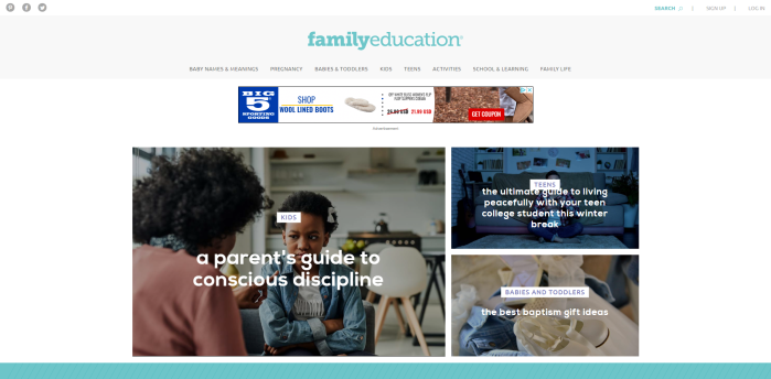 Parenting News Sites - FamilyEducation