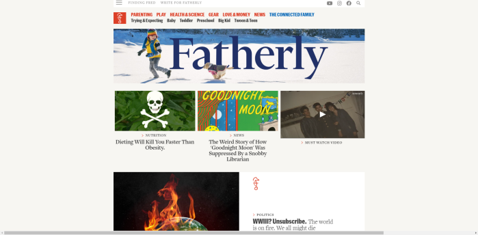 Parenting News Sites - Fatherly