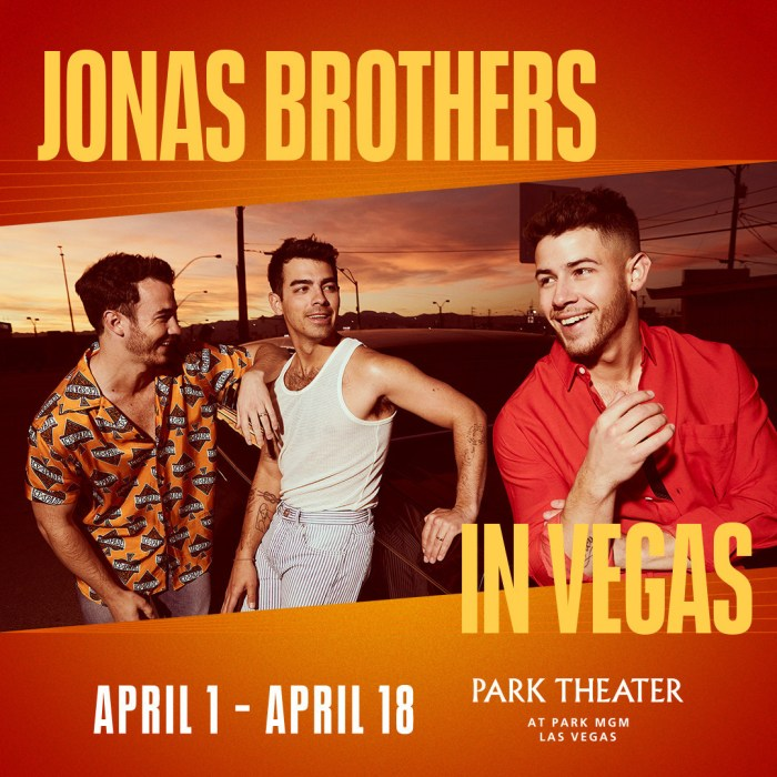 Live Nation Jonas Brothers in Las Vegas