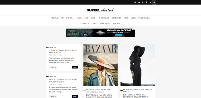 African American luxury news sites - Super.selected