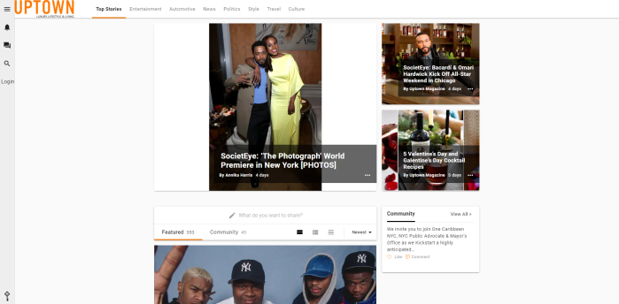 African American luxury news sites - Uptown Magazine