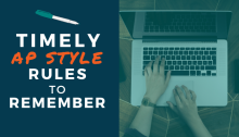 Timely AP Style Rules to Remember