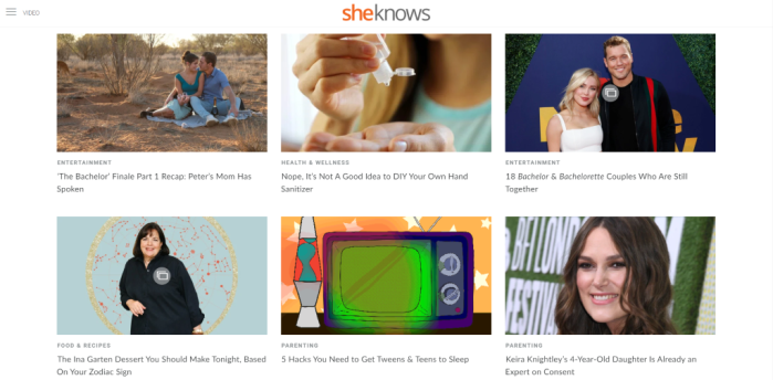 Women's Interest News Sites - SheKnows